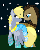 Derpy+dr Whooves by StormSong72