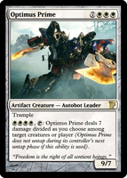 MTG - Optimus Prime by DXIII