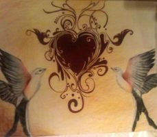 Birds in love confusion by MishelleGuthridge