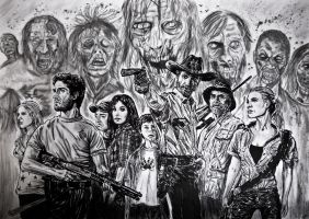 the walking dead by FDupain