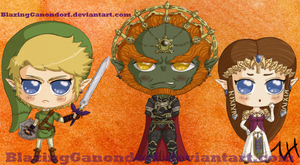 Triforce Chibis by BlazingGanondorf