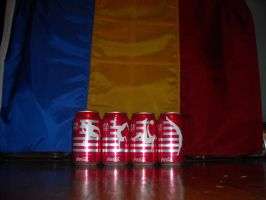 2012 Coca-Cola Olympic Can Set with Romanian Flag by NinjaAssassin415