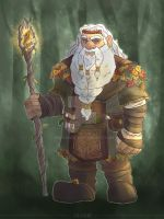 Bulwif Ironscale - Druid Dwarf by MrsSandy