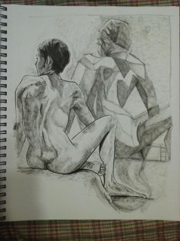 Figure Friday sketch male March 3rd by Anthony-aggro
