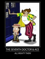 Seventh Doctor and Ace by karcreat
