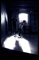 Skating through the shadows by Maozi