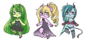 chibi demons adoptables [CLOSED] by faycoon