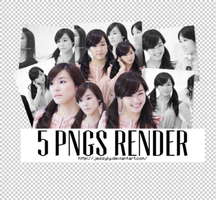 5 PNGs Render Pack - Tiffany by jessyly
