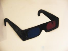3D Glasses Stencil by earwig20