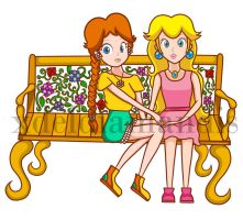 Daisy and Peach bench Final version by xdeldiamandis