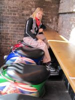 Riding seats in Camden Town by Alicemonstrinho