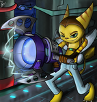 ratchet and clank - plasma coil by Titanium-Zen