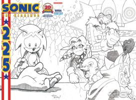 Sonic 225 Variant Cover by sonicfan1987