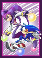 night and sonic by lightmega777