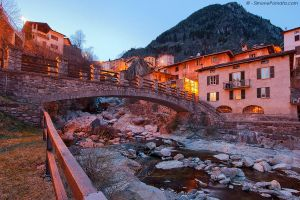 Branzi - Bridge and village by SimonePomata