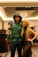Green Arrow and Black Canary by SPISIS