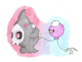 Req - Duskull and Drifloon by xela1234