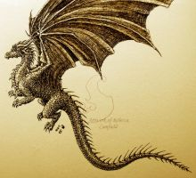 Ink Dragon 3 by chaosia