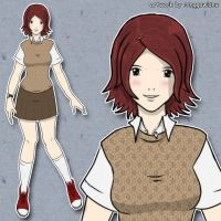 Girl #2 colored by ronggo