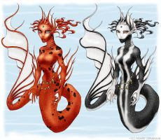 Koi Mermaids 2 by Kipestshin