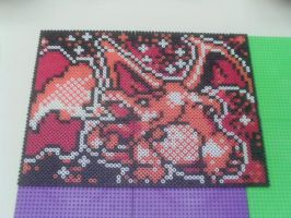 Charizard Bead Portrait by Werbenjagermanjensen