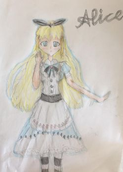 Alice in the Wonderland Alice(Anime) by aliciadreamart