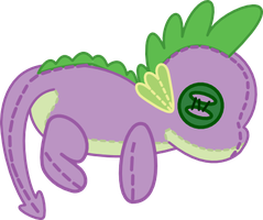 My Little Plushie - Spike by SnowflamePony