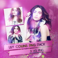 Lily Collins Png Pack by SuBiebs