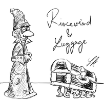 Discworld - Rincewind and Luggage by Darkie90