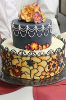 Stained glass wedding cake by 4-Hforever