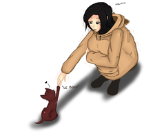 Cat? Aren't you cold cat? ...I'm cold. by Little-Yuri-kun
