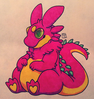 Creature Chib Commish - Dragon-Frog by MGMaguire