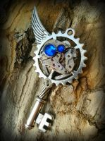 Indigo Mechanized Fantasy Key 2 by ArtByStarlaMoore
