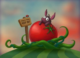 Tomato Bunny by Tooshtoosh