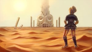 Annie in the Desert by Razputin93