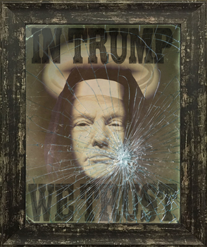In Trump We Trust framed poster by Paparaw