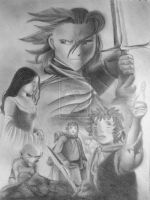 lord of the rings anime by littlepinkninja