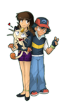 NEW - Meowzzie,Meowth aand Ash by Meowzzie