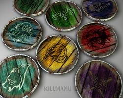Skyrim shields by Killm4nU