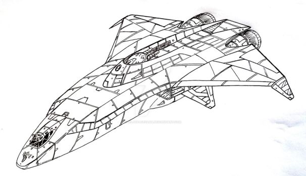 Allied SC-405A 'Corax' armed transport by WildSpaceSaga