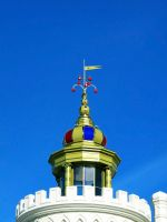Puppet theatre. Observation tower with dome. by elfische