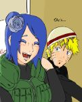 Naruto and Konan. She's laughing? by MegaDarkly