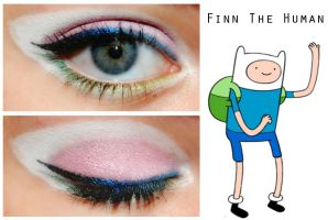 Adventure Time Makeup: Finn The Human by nazzara