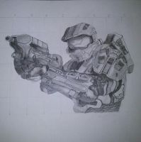 Halo 4 Master Chief by SkyChow