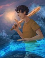 Percy Jackson - Son of Poseidon by Blue-Wave-789