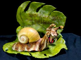 Saber Tooth Snail with Stand by RavendarkCreations
