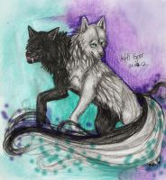 Heh and Ammit by SaidyWolf