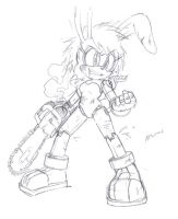 Scribbles - request of bunnie posed like ash by AdamBryceThomas