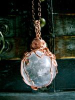 Full Moon Quartz Amulet by EireCrescent