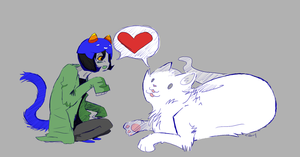Nepeta and her bestest kitty by tifachu